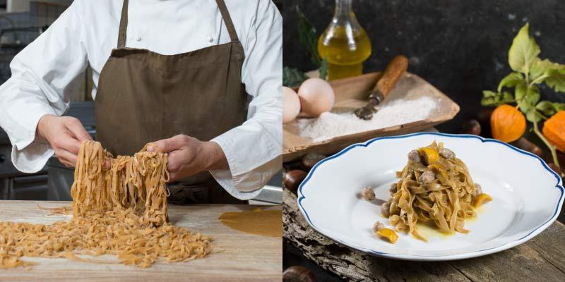Specialities of Restaurant Le Case Macerata