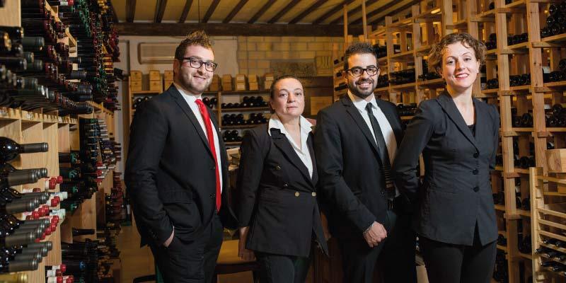 La cantina del Ristorante L'Enoteca - Le Case Macerata