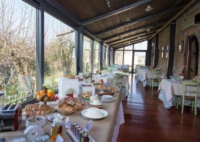 Colazione gourmet con prodotti freschi e genuini al Resort Le Case a Macerata.