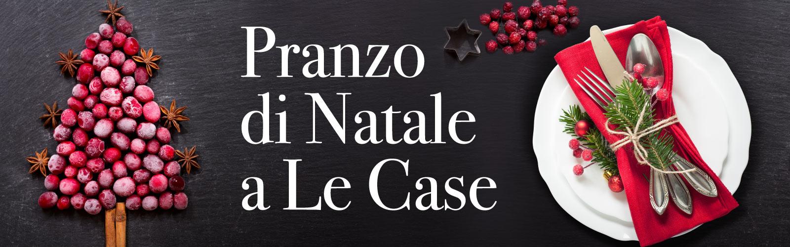 menu del pranzo di natale al ristorante Le Case Macerata
